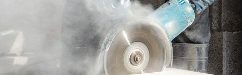 Grinder creates vast amounts of dust