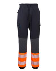 KX3 Hi Vis Flexi-Trouser in Black & Orange