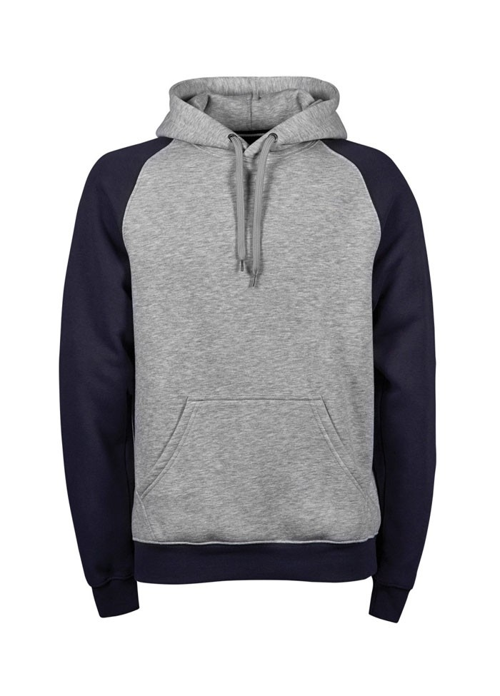 Two-Tone Hooded Top