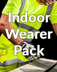Indoor hivis wearer pack
