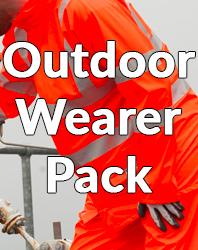 Outdoor wearer pack
