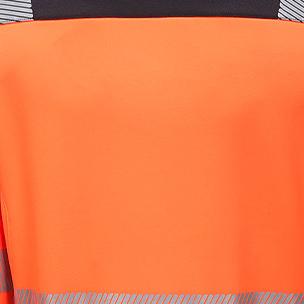 Orange fluorescent fabric